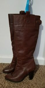 Banana republic leather high heel boots